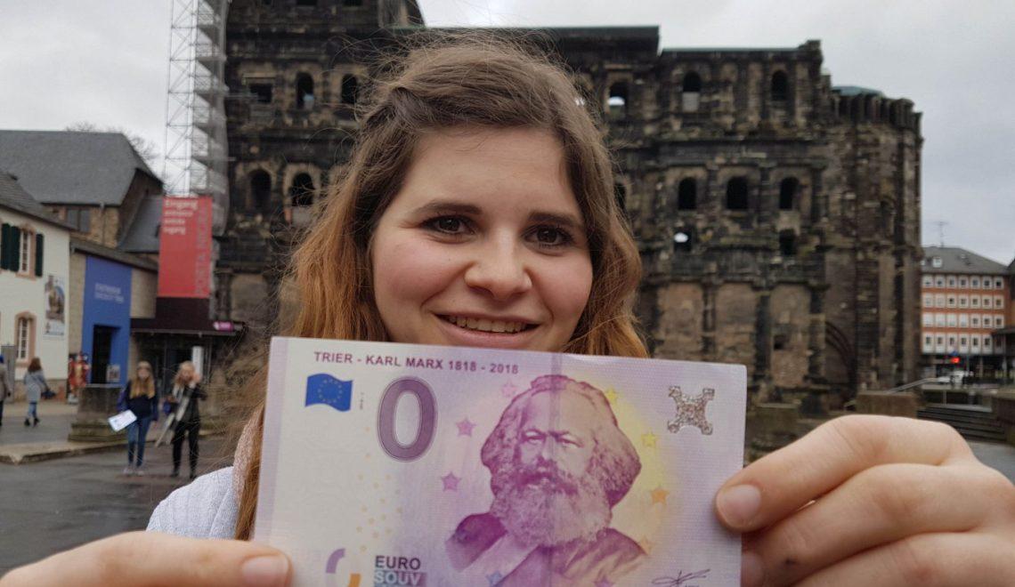 無產階級導師馬克思紀念0歐羅鈔票 竟然要賣3歐羅一張