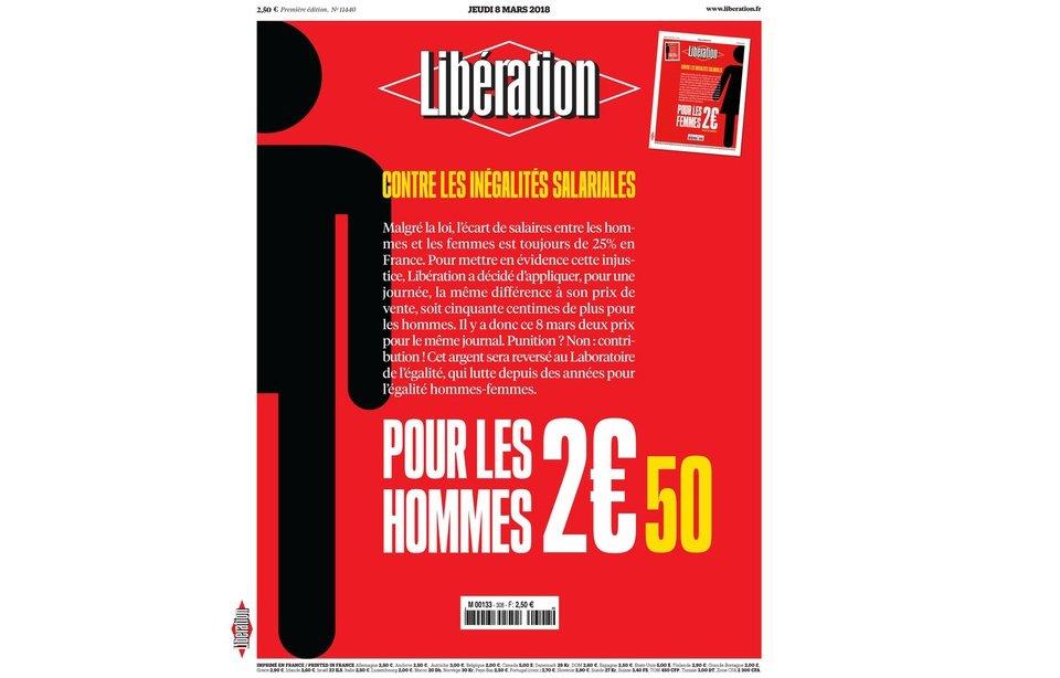 法國報紙「慶祝」三八婦女節 針對男性加價50仙?