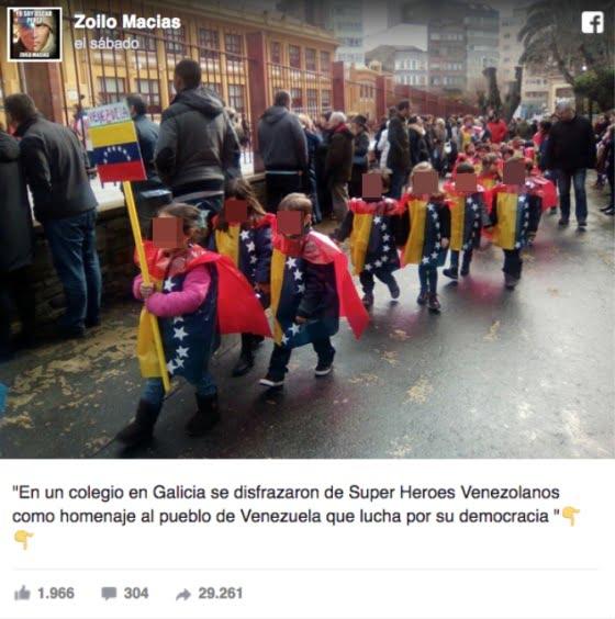 見西班牙幼稚園學生掛國旗 委內瑞拉網民打飛機話支持馬杜羅政權?