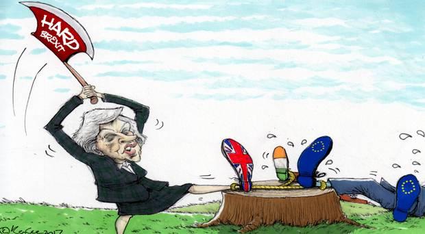 愛爾蘭政府各部總共準備300份預案 應付硬脫歐