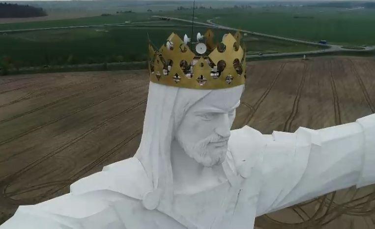 波蘭耶穌像 trendy 頭頂12枝天線發射wifi?