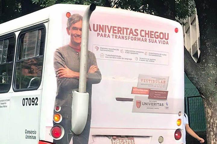 巴西巴士死氣喉廣告「扯旗」慘被恥笑