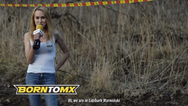 波蘭體育美女記者 採訪被電單車成身泥 一戰成名?