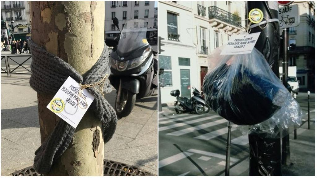 法國街頭出現新模式 捐舊衫俾窮人 就咁掛係街就得?