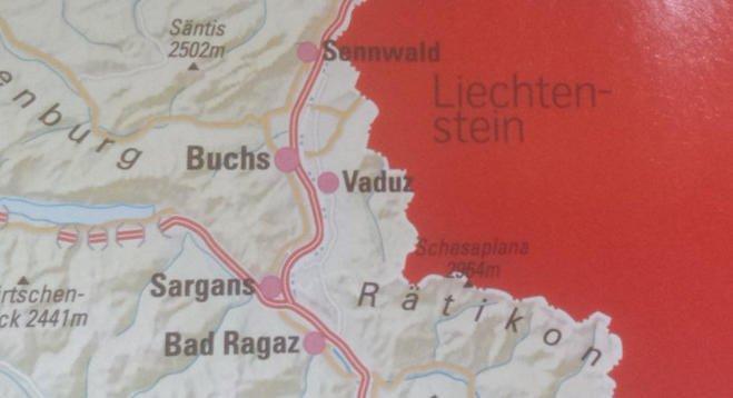 瑞士航空機內雜誌出錯 列支敦士登被為瑞士領土?