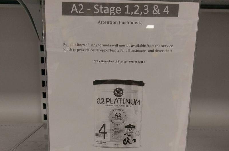 契丹人瘋狂掃貨 搞到澳洲超市要鎖起啲奶粉