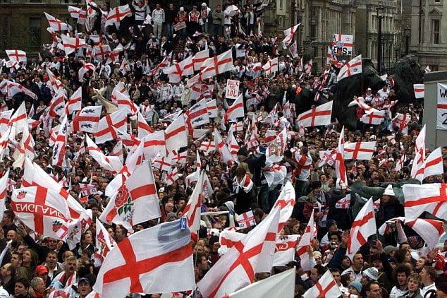 英警察:聖佐治十字旗太帝國主義 世界盃球迷不宜公開展示?