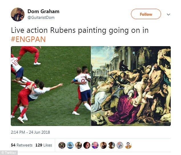 巴拿馬隊暴力對待英格蘭 球迷拿出魯賓斯名畫黎表達不忿?