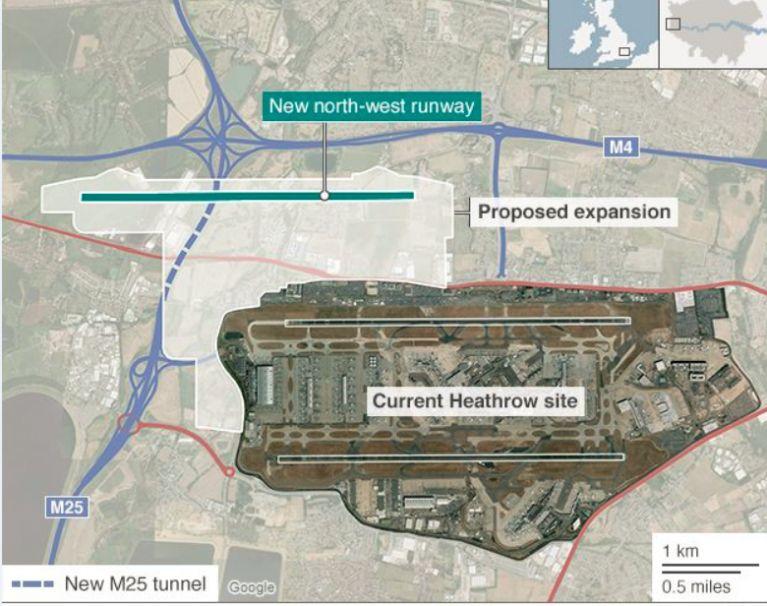 倫敦希斯路機場三跑法案 要靠蘇民黨危危乎?