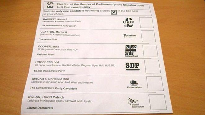 英國將逐步廢除百年老法 唔再印候選人地址係選票