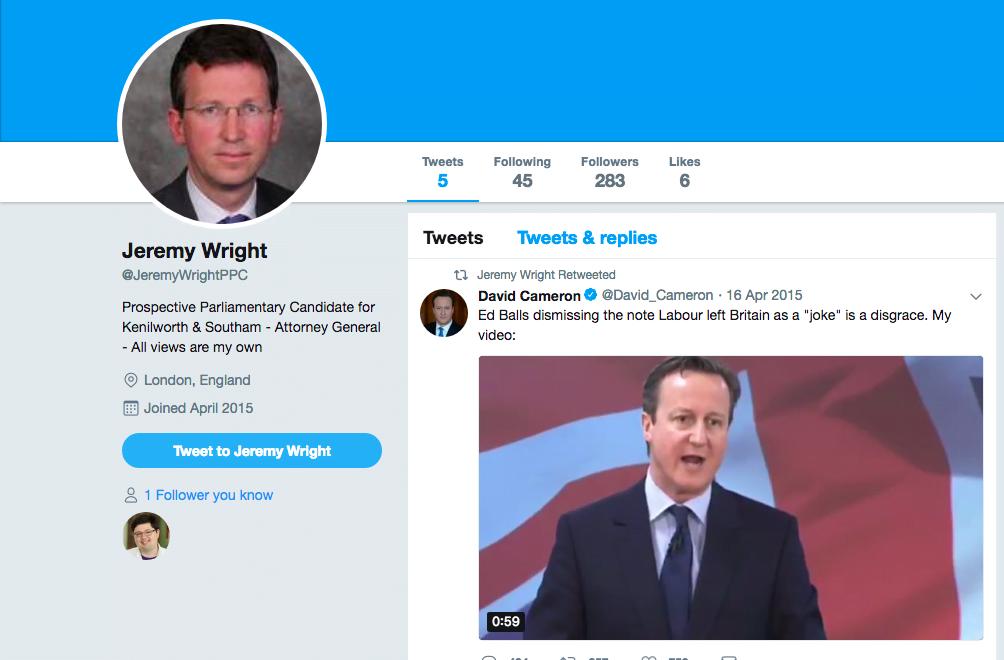 新任數碼經濟大臣 竟然俾人發現3年無 Twitter