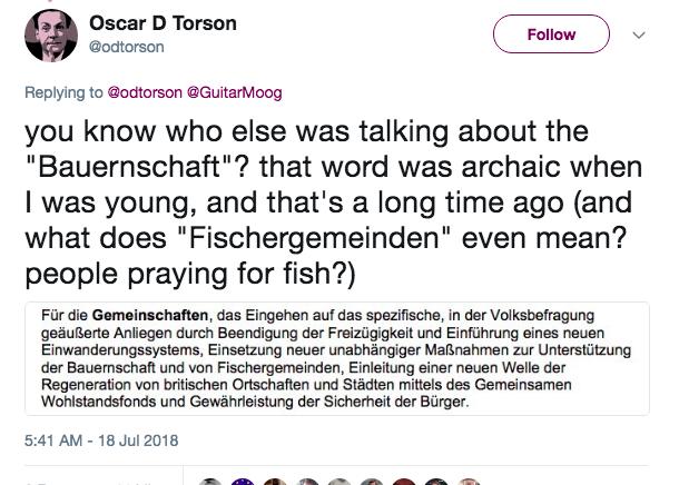 脫歐白皮書翻譯錯漏百出 國名都錯之外 德文版仲譯出「崇拜魚嘅人」?