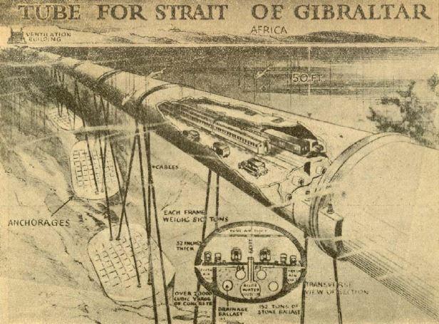 西班牙政府表示直布羅陀海峽隧道可行 仲可以運送撒哈拉太陽能?