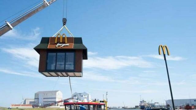 荷蘭玩迷你麥當勞 全國偏遠地方巡迴走透透?