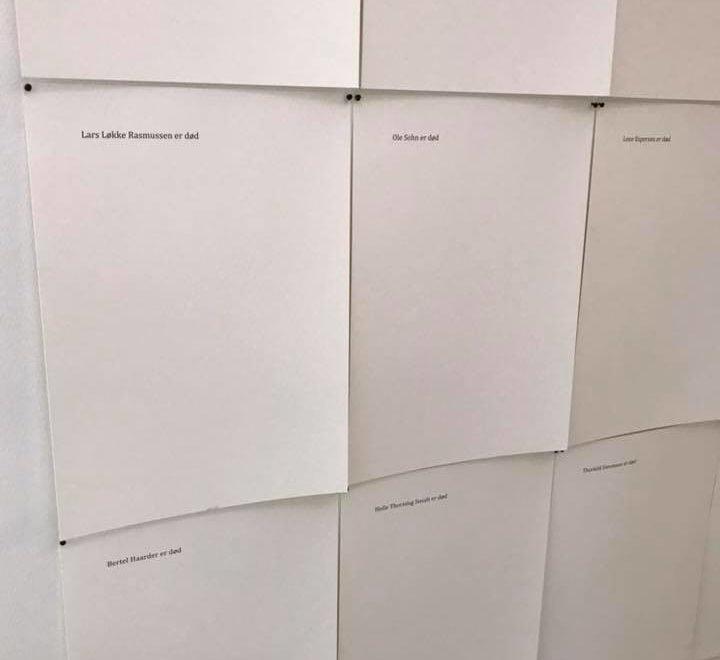 20張A4紙印一行字就係可以俾丹麥市政府當係藝術品咁買?