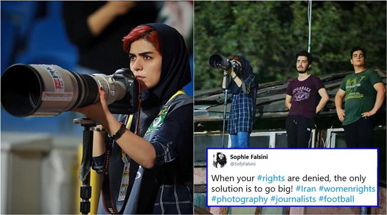 伊朗cls嚴格法律 女記者無法入場影足球賽 要出動絕招
