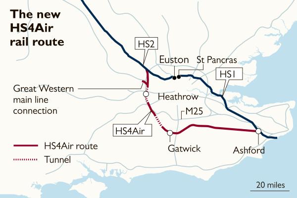 倫敦新高鐵 來往兩個機場只要15 分鐘?