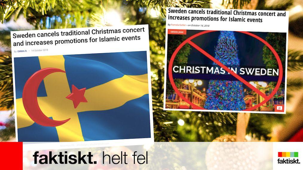 瑞典電視台唔播聖誕佳音 被質疑討好回教?