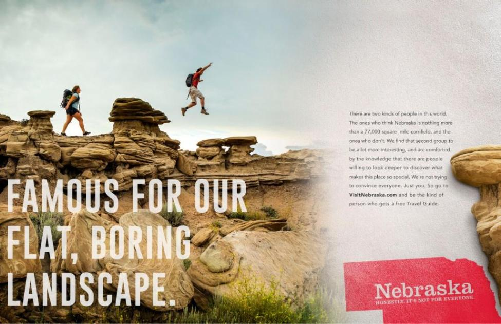 內布斯加旅遊推廣 就係推廣自己夠「悶」