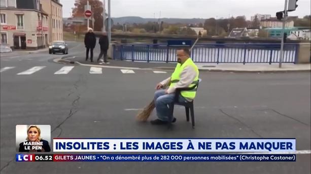 法國市民就算只有一人示威 佢都繼續坐係路中心