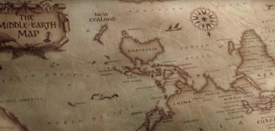 紐西蘭因為經常係地圖消失 旅遊局推廣全新係世界中央嘅地圖 (好似係