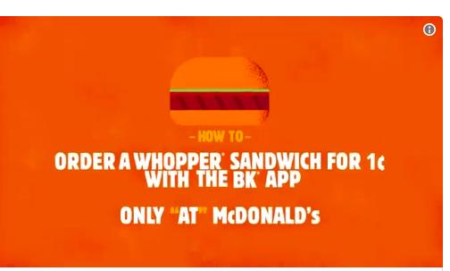 美帝漢堡王擺明整蠱 要1仙漢堡要係麥記附近「落單」