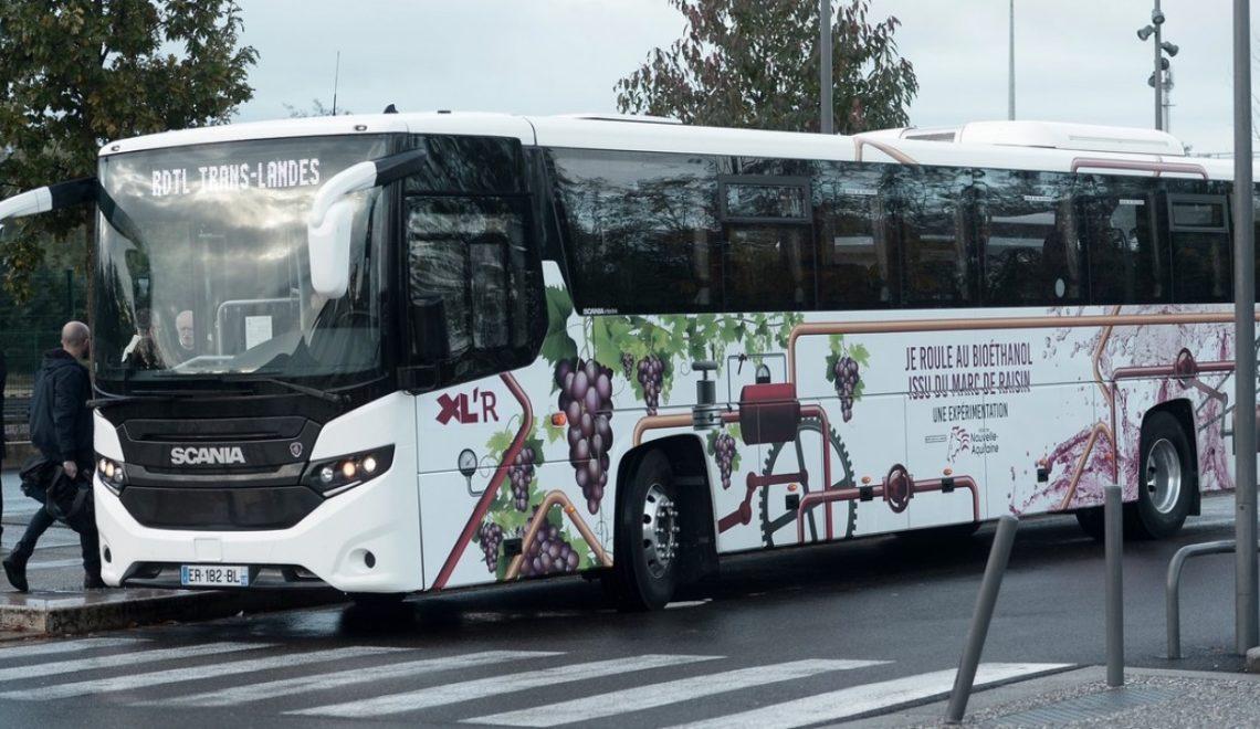 法國酒鄉出現提子渣燃料巴士