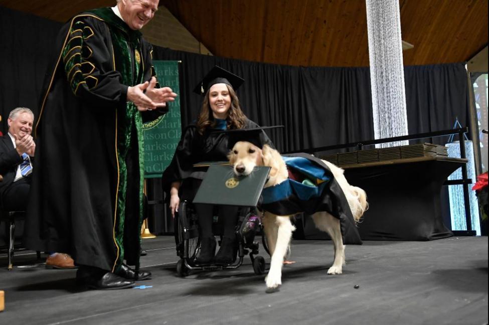 美國一間大學頒授學位俾狗狗?