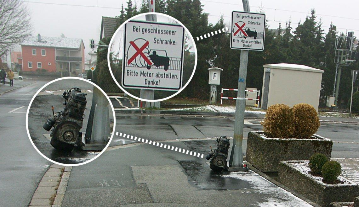 抗議停車熄匙 德國人係路牌前放低一整個引擎?
