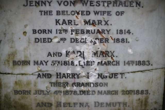 馬克思死後都不得安寧 墓碑被鑿到名都見唔到