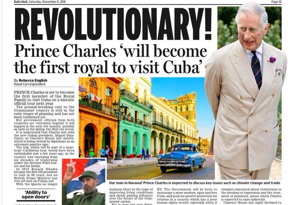 太子伉儷將首次出訪古巴 卡米拉未出發先擔心「無啖好食」?