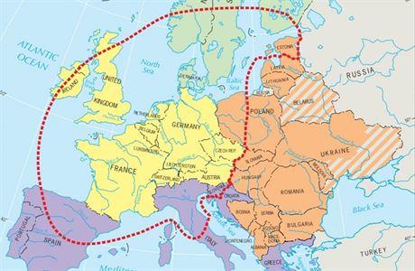 美國教科書將捷克列入西歐