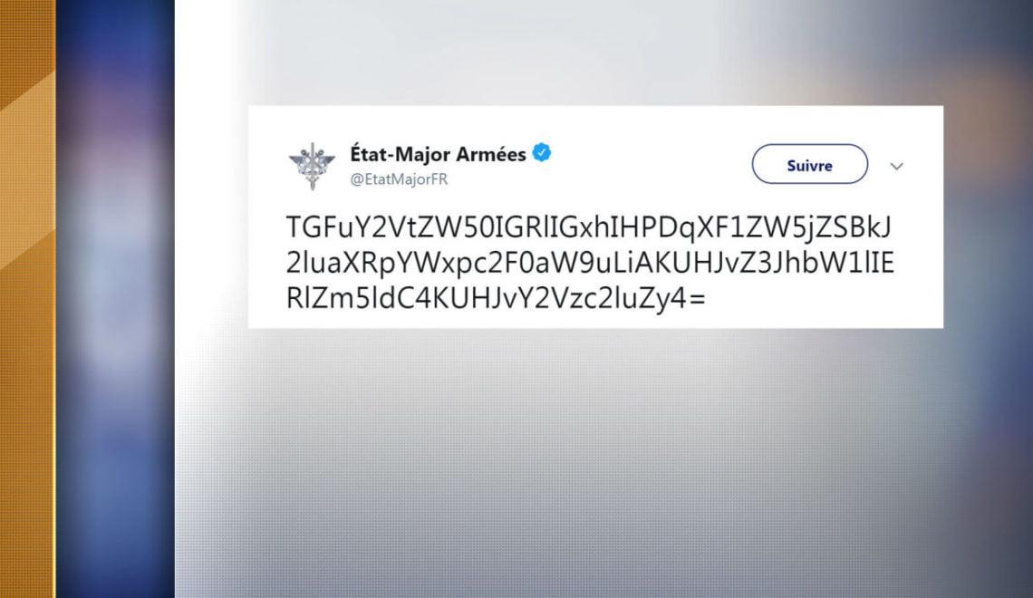 法軍twitter出現神奇字串 被人驚嚇以為係核戰代號?
