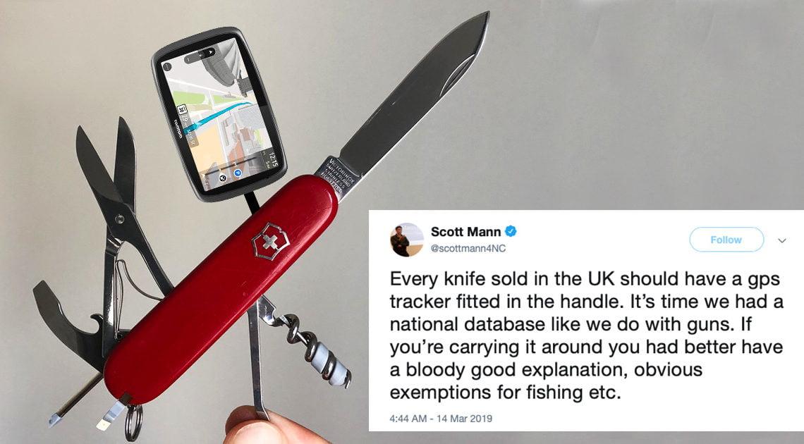 議員建議刀具須裝GPS 慘遭網民恥笑