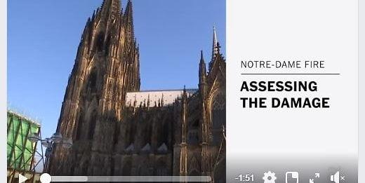 紐約時報將古龍大教堂當係巴黎聖母院?