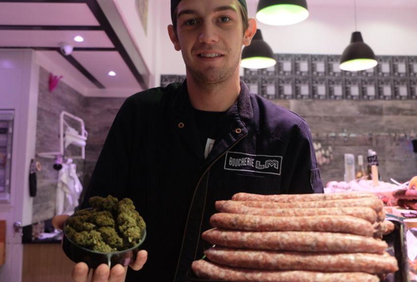 法國屠夫推出大麻香腸!