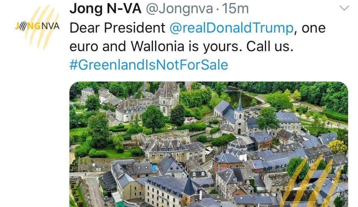 丹麥唔賣格陵蘭 但比利時可以賣法文區?