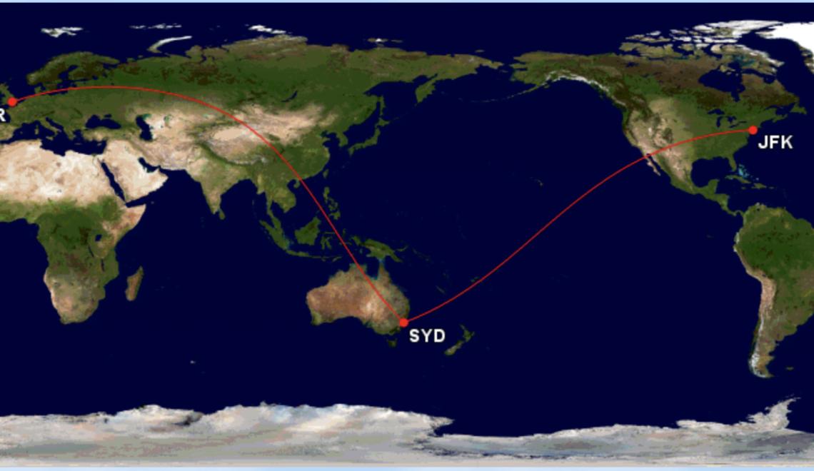 袋鼠航空將試飛 倫敦紐約來往雪梨嘅終極忽必裂航班