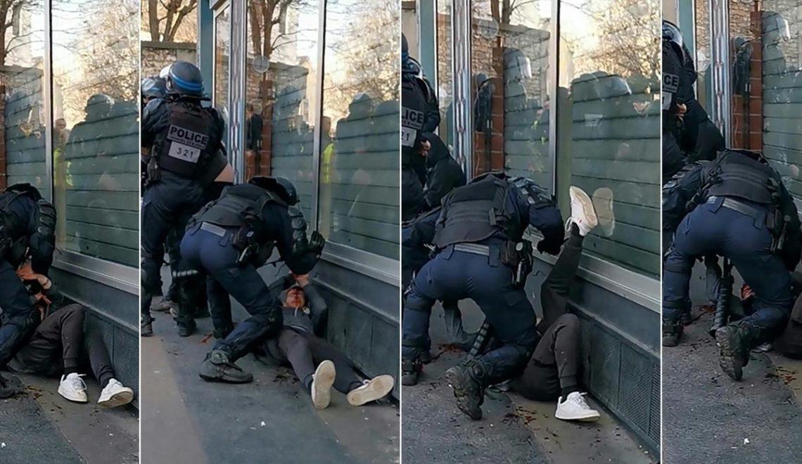 巴黎黃衫軍被打到滿面血 檢察官翌日即刻立案調查