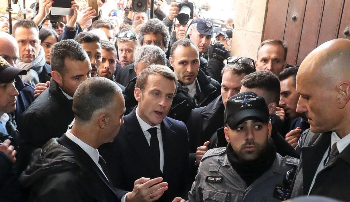 法國總統再度被拍到驅逐以軍離開法屬教堂