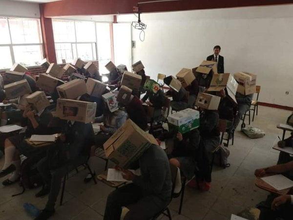 墨西哥老師發明反作弊大法?