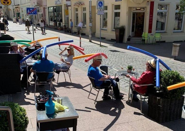 德國餐廳奇招 保持社交距離
