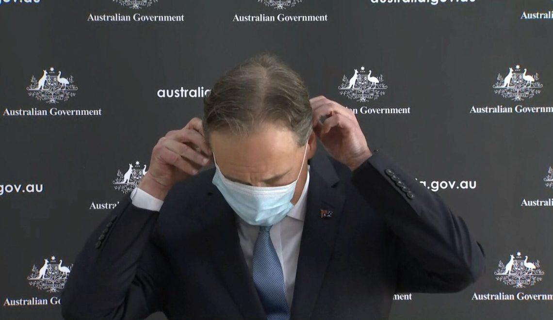 澳洲衛生大臣 表演戴口罩被恥笑