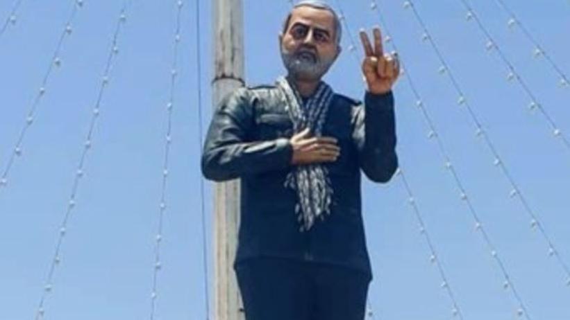被美國轟殺伊朗將領雕像 慘被畫成「憨豆先生」?