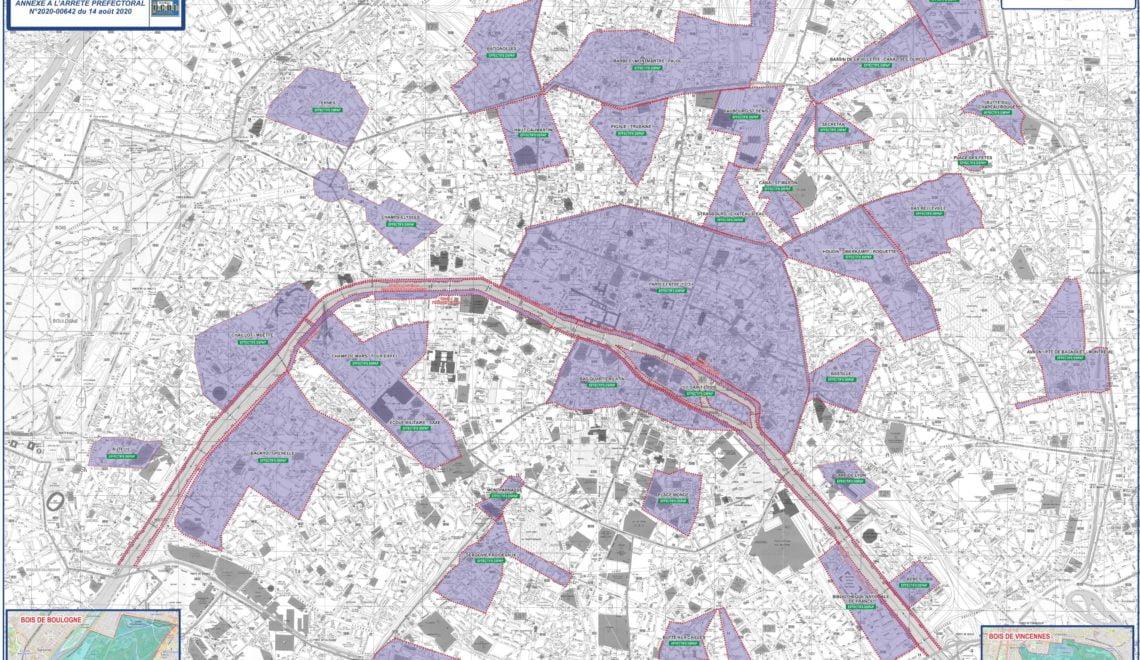 巴黎新規定戴口罩區地圖 慘遭市民恥笑