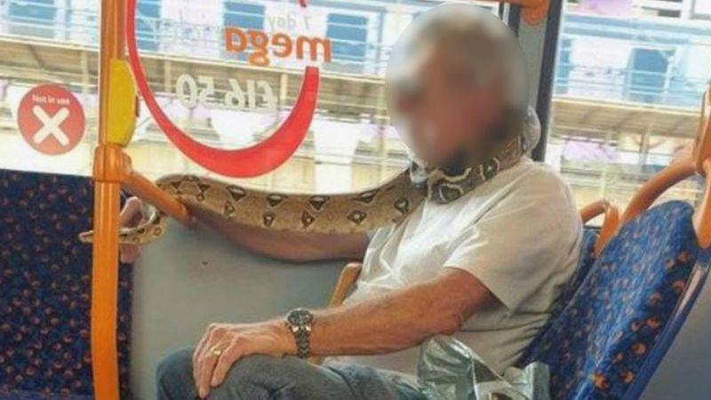 曼市用蛇黎做口罩 嚇親街坊