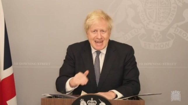 Boris 國會做報告 突然mute咪超尷尬要休會