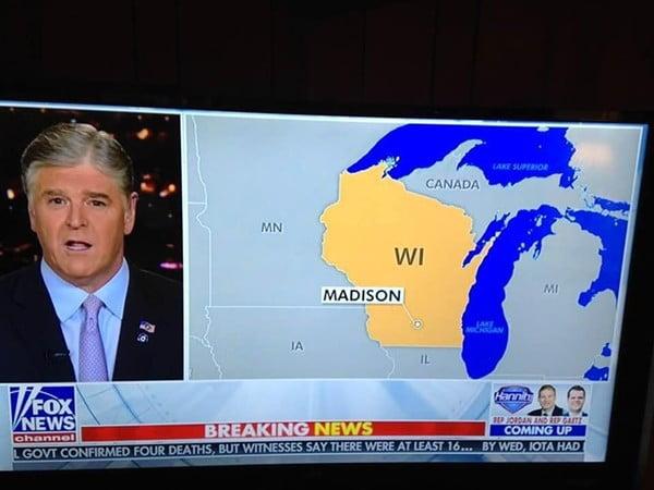 FOX news將密歇根當加拿大 慘遭恥笑