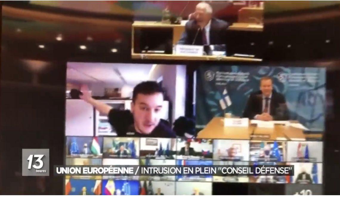 歐盟國防部長會被記者就咁從網上連結闖入 紅都面曬