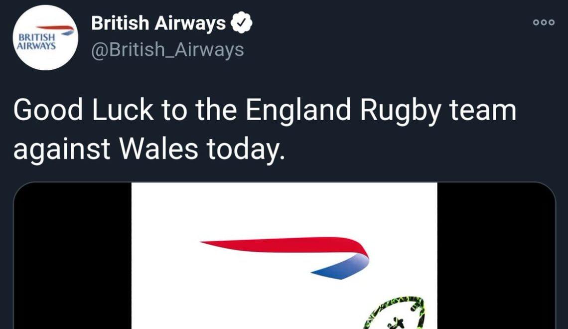 BA祝福英格蘭欖球隊戰勝威爾斯抽出火水